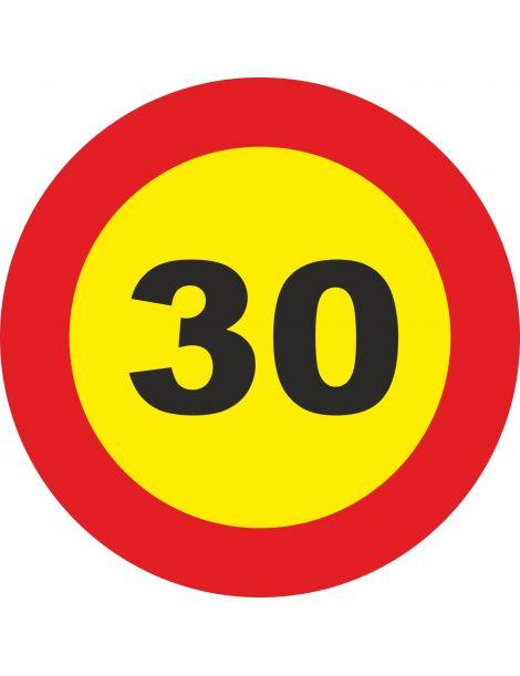 Señal Velocidad Máxima 30