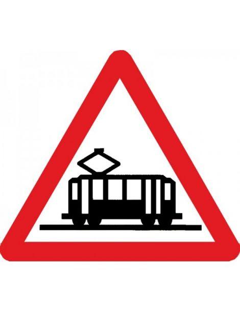 Señal Peligro Cruce de Tranvía