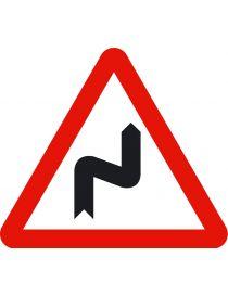 Señal Peligro Curvas Peligrosas hacia la Derecha