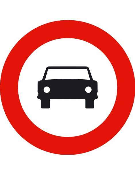 Señal Entrada Prohibida a Vehículos de Motor, Excepto Motociclos de Dos Ruedas Sin Sidecar