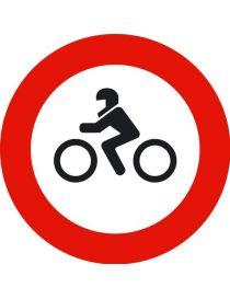 Señal Entrada Prohibida a Motocicletas