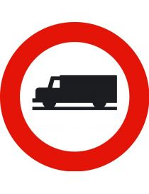 Señal Entrada Prohibida a Vehículos Destinados al Transporte de Mercancías