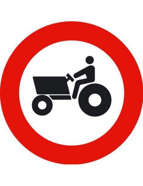 Señal Entrada Prohibida a Vehículos Agrícolas de Motor