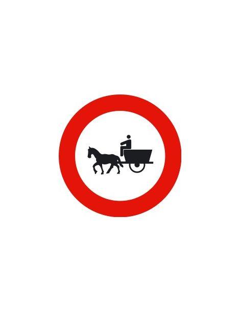 Señal Entrada Prohibida a Vehículos de Tracción Animal