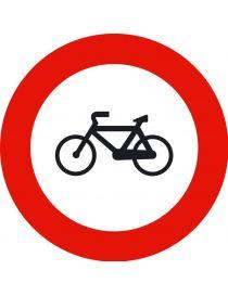 Señal Entrada Prohibida a Ciclos