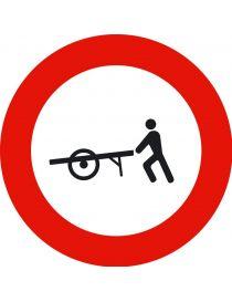Señal Entrada Prohibida a Carros de Mano
