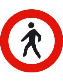 Señal Entrada Prohibida a Peatones