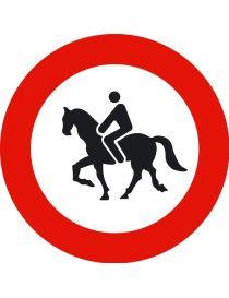 Señal Entrada Prohibida a Animales de Montura