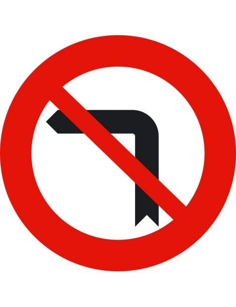 Señal Giro a la Izquierda Prohibido