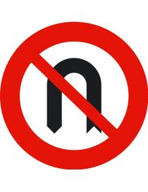 Señal Media Vuelta Prohibida