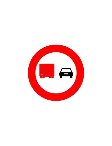 Señal Adelantamiento Prohibido Para Camiones