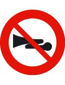 Señal Advertencias Acústicas Prohibidas