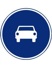 Señal Calzada Para Automóviles, Excepto Motocicletas de Dos Ruedas sin Sidecar