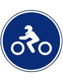 Señal Calzada Para Motocicletas de Dos Ruedas sin Sidecar
