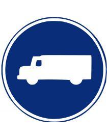 Señal Calzada Para Camiones