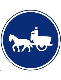 Señal Camino Para Vehículos de Tracción Animal