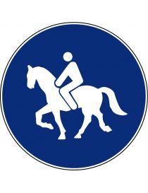 Señal Camino Reservado Para Animales de Montura