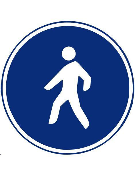Señal Camino Reservado Para Peatones