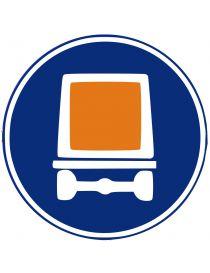 Señal Calzada Para Vehículos Que Transporten Mercancías Peligrosas