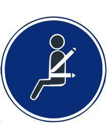 Señal Uso Obligatorio Del Cinturón de Seguridad