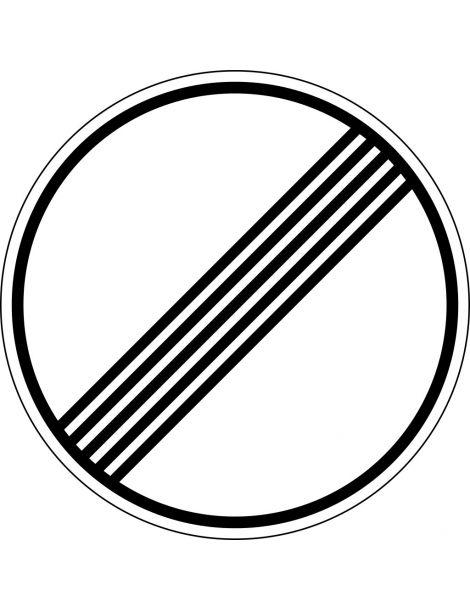 Señal Fin de Prohibiciones