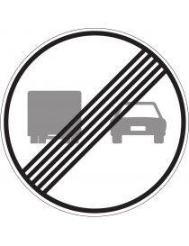 Señal Fin de Prohibición de Adelantamiento Para Camiones