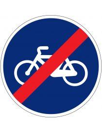 Señal Fin de Vía Reservada Para Ciclos