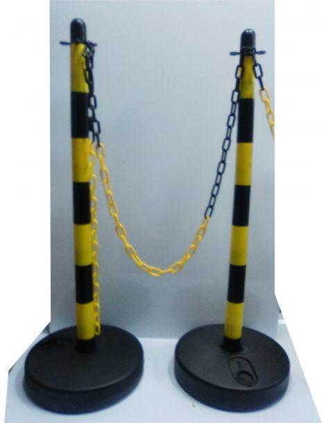 Poste de Plastico Amarillo-Negro