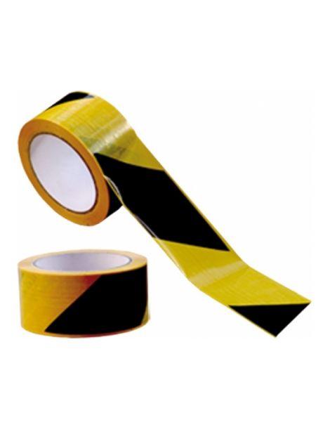 Cinta Adhesiva Señalización Amarilla-Negra