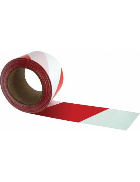 Cinta Adhesiva Señalización Roja-Blanca