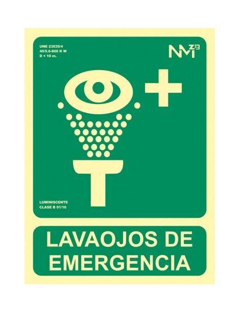Señal Lavaojos de Emergencia
