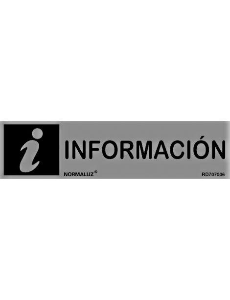 Placa informativa Información