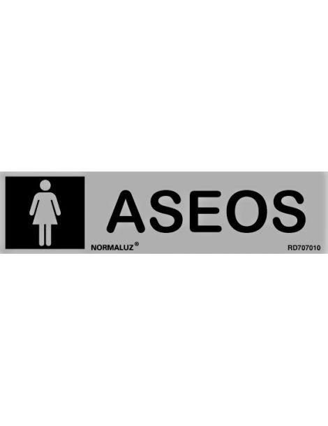 Placa Informativa Aseos Señora
