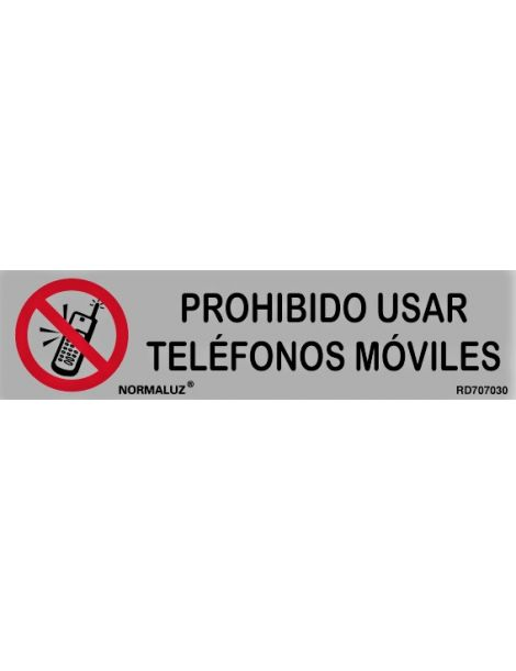 Placa Informativa Prohibido Usar Teléfonos Móviles