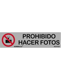 Placa Informativa Prohibido Hacer Fotos