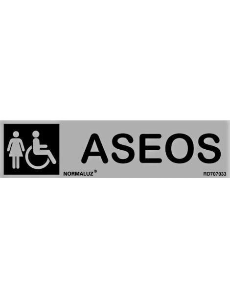 Placa Informativa Aseos Señora-Minusválidos