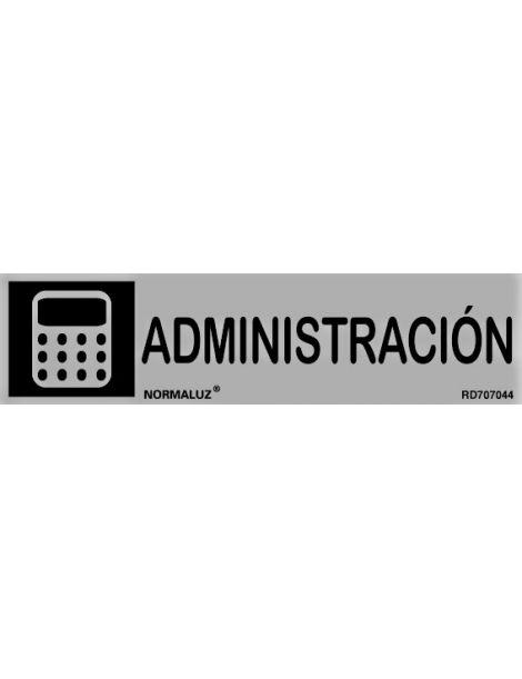 Placa Informativa Administración