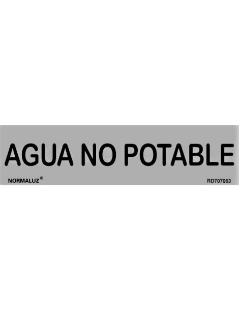 Placa Informativa Agua no Potable