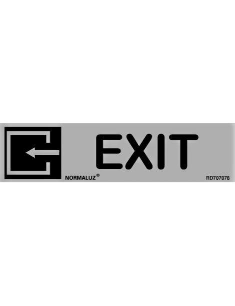 Placa Informativa Exit