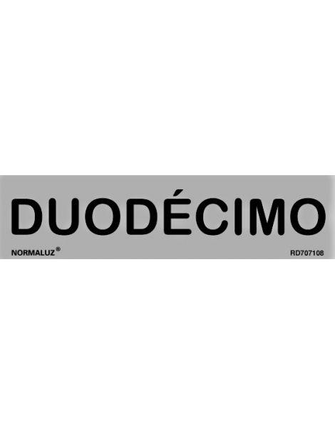 Placa Informativa Duodécimo
