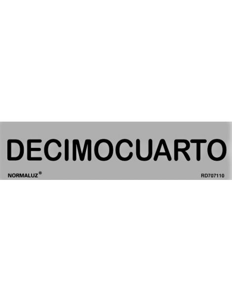 Placa Informativa Decimocuarto