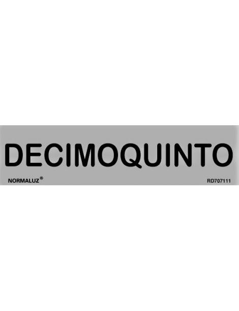 Placa Informativa Decimoquinto