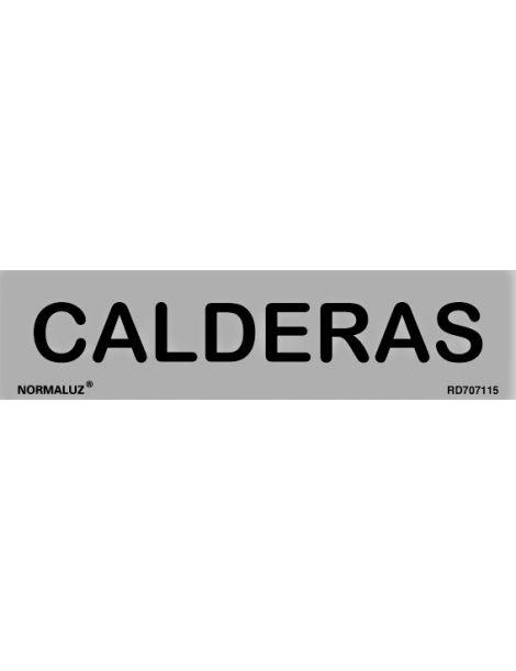 Placa Informativa Calderas