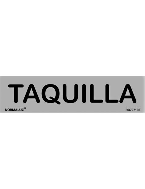 Placa Informativa Taquilla