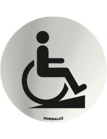 Placa Informativa Acceso Minusvalidos con rampa