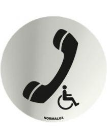 Placa Informativa Telefono Minusvalidos