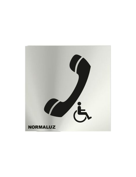 Placa Informativa Teléfono Minusválidos