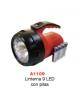Linterna 9 LED con pilas