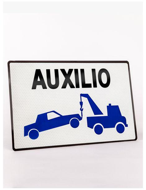 Placa Grúa Servicio Auxilio en Carretera