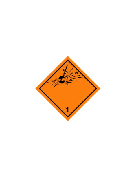 Etiqueta materias y objetos explosivos (Clase 1)